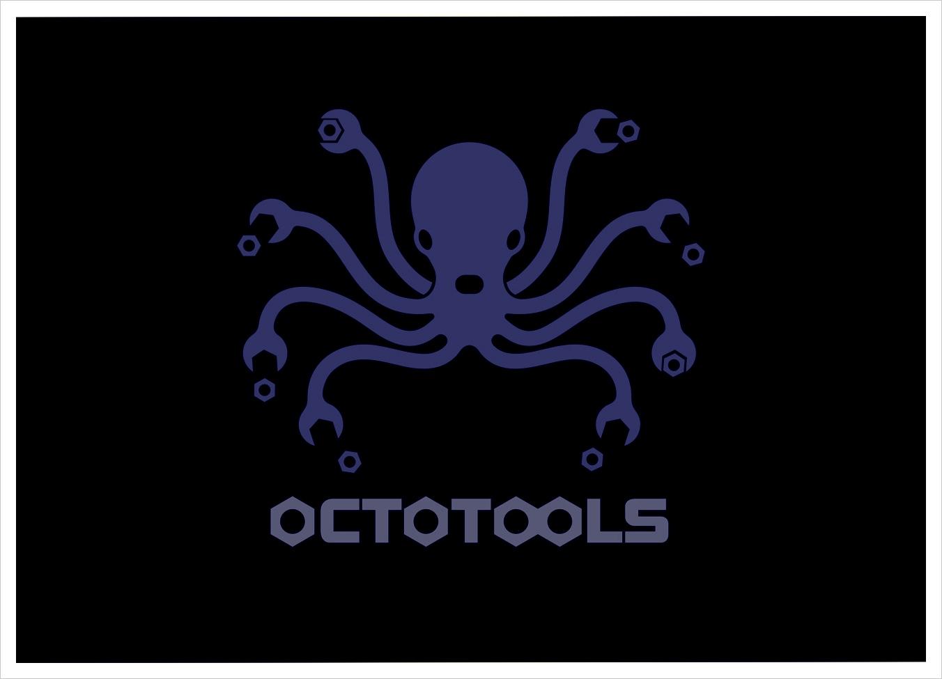 Octotools Logo For Marine Tool Company Logo Graphic