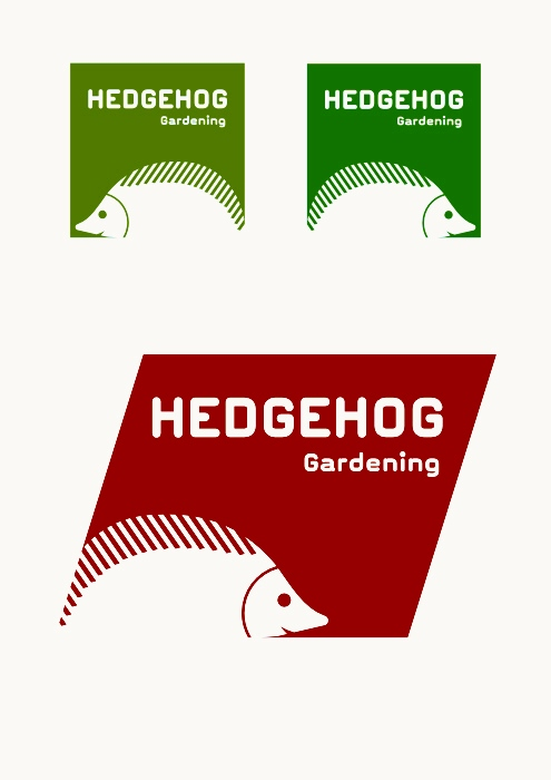 logo design  for gardening company hedhog logo,london logo design