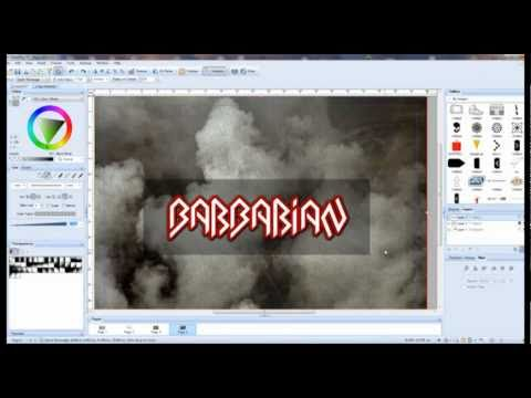 Logo design for rock,metal band tutorial