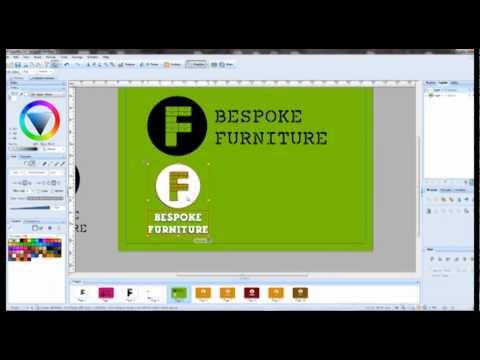 How to design a logo in serif draw x4