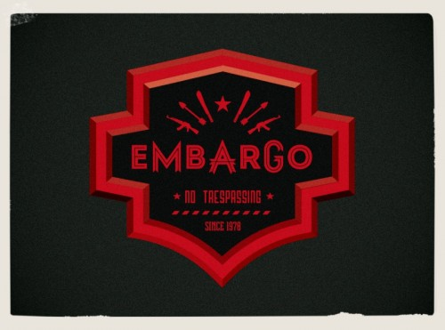 embargo,vintage style graphics,logo,for sport team, typography  services