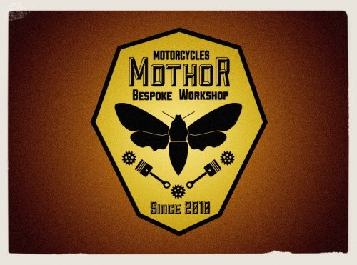 mothor logo ,badge motor company,workshop,graphic design london