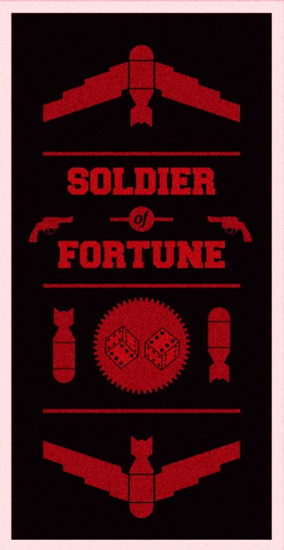 soldier of fortune poster,graphic designer london
