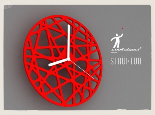 Struktur designer wall clock designed by cooltobject design lab