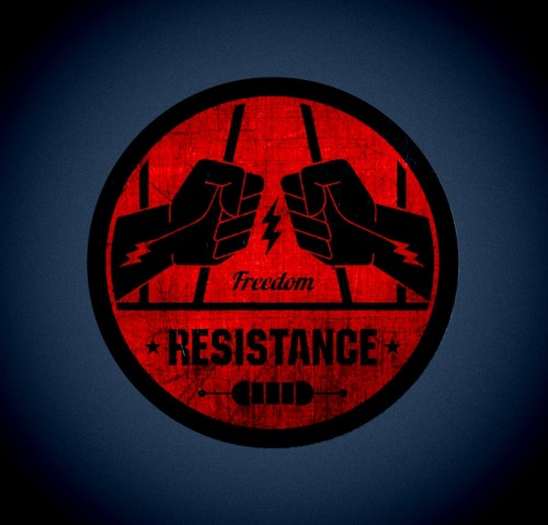 resistance -game crew,logo designer London,creative services uk,band logos,vintage style