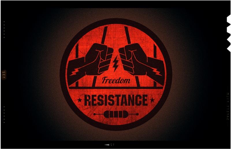 Resistance,logo for gamer team ,graphic, badge designer London