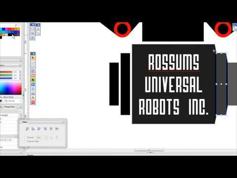 Rossums Universal Robots, graphic logo project inspired by…
