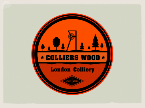 colliers wood logo,visualrevolt,graphic design service London,colliery,mine