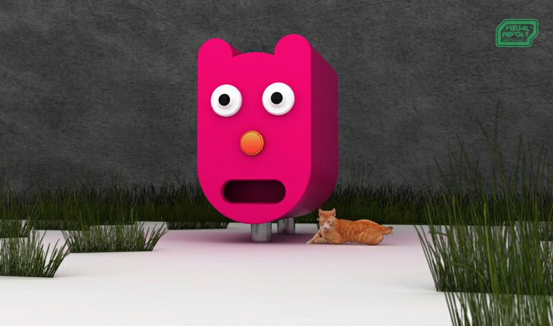 kennel for cats, product designer london,3d graphics