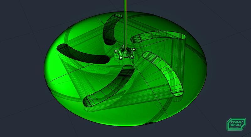 visualrevolt, flying saucer shape ceiling fan, product designer london, graphic design
