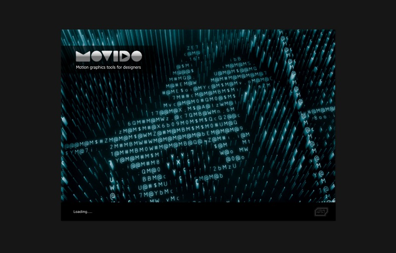 after effects alteratives, movido project, splash screen, london graphic designer