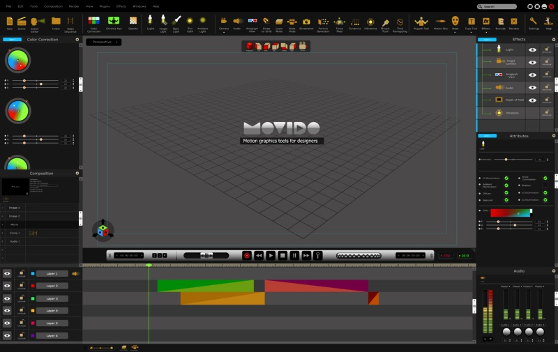 movido project, motion graphic software for designers, user interface,visualrevolt