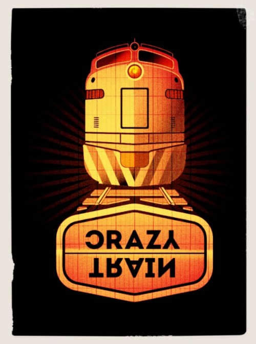 crazy train poster,visualrevolt, graphic designer london