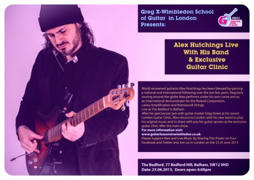 guitar lessons in wimbledon, guitar clinic, events, alex hutchings, Greg X music