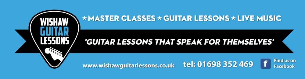 Guitar lessons in Wishaw banner, visualrevolt, graphic design