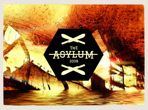 asylum, graphic logo, poster design london