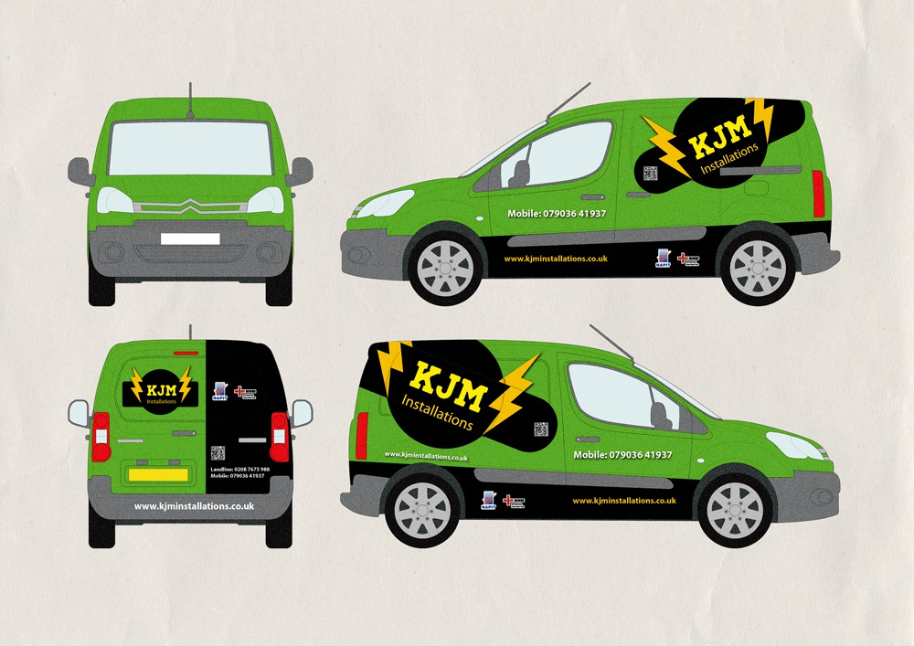 van-graphics, logo design car wrapping, vinyl graphics ,visualrevolt, graphic designer london