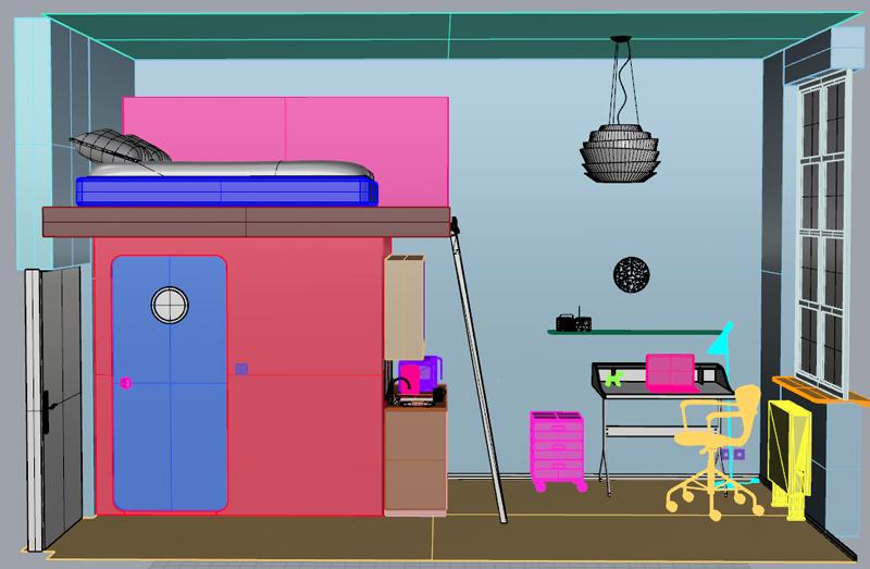 3d Interior Design Visualizations Work In Progress Logo Graphic Design London