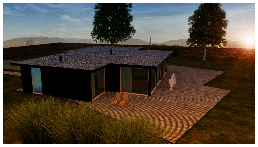 bungalow- 3d  design house modeling